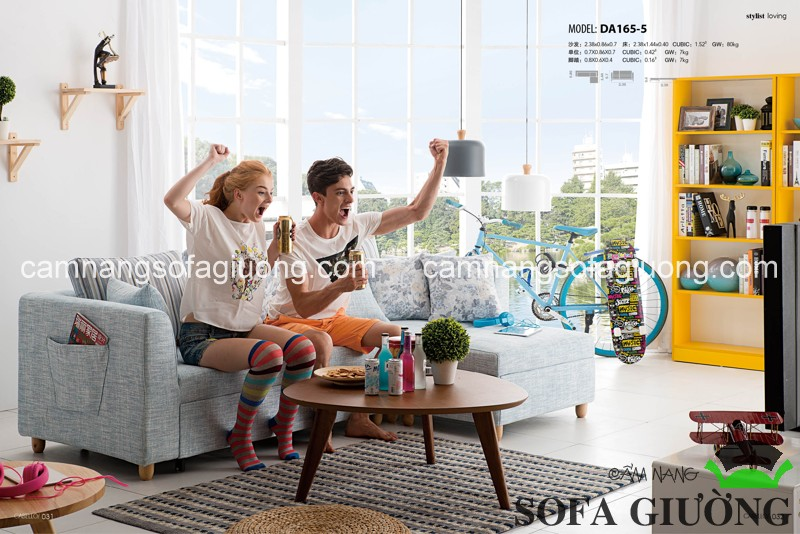 Sofa giường thông minh nhập khẩu cao cấp và sự tiện nghi cùng gia đình đón Tết