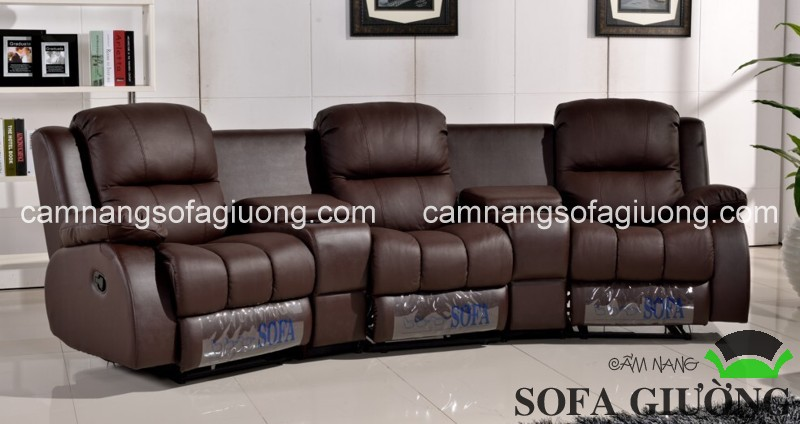 Ghế sofa thư giãn hiện đại da thật thích hợp sử dụng trong không gian văn phòng