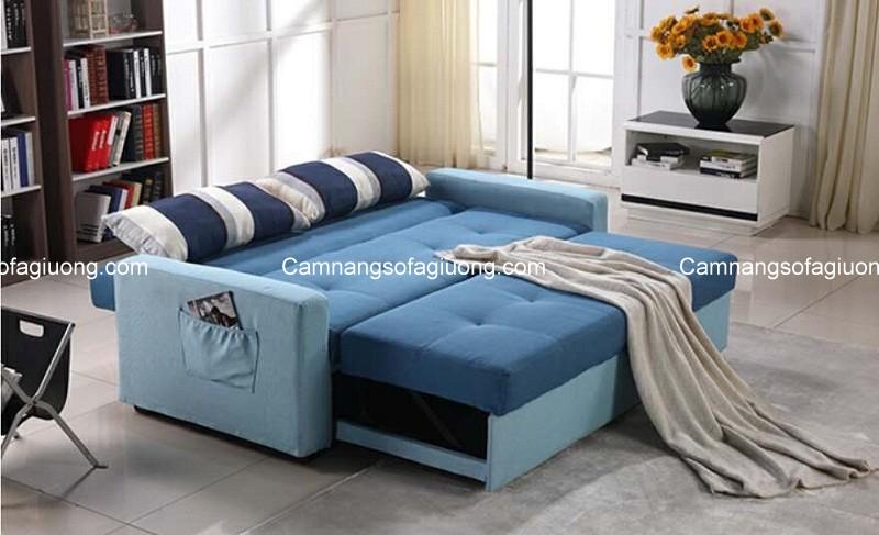 Mẫu ghế sofa giường với trạng trái giường rộng rãi, thoải mái chăm sóc cho giấc ngủ của trẻ nhỏ