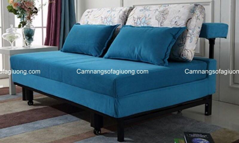 Ghế sofa giường chất liệu vải thường dễ xử lý các vết bẩn, dễ dàng tháo lắp vệ sinh vải bọc