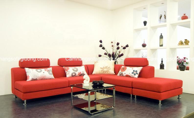 Ghế sofa cho phòng khách với kiểu dáng đơn giản, trẻ trung