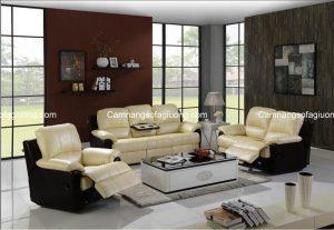 Sofa phòng khách chất liệu da mang đến vẻ đẹp cao cấp và sang trọng