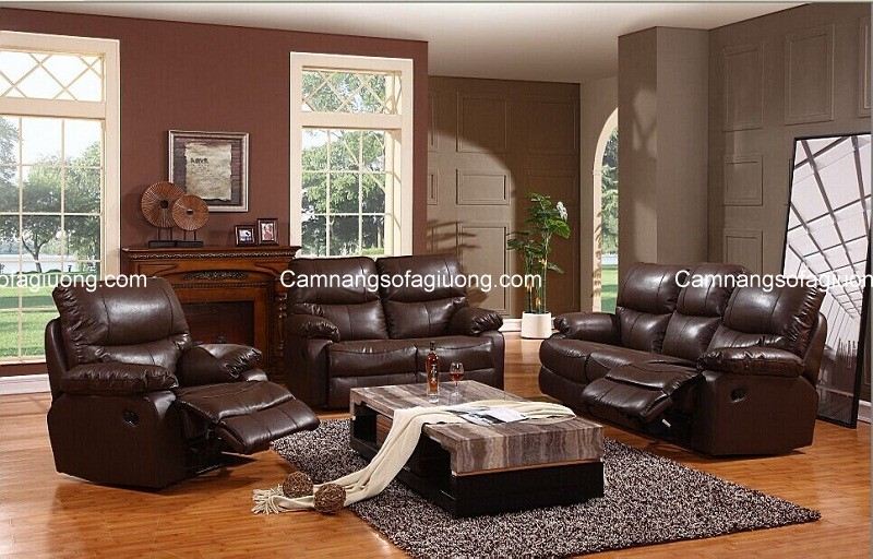 Ghế sofa cho phòng khách chất liệu da mang đến sự đẳng cấp cho không gian nhà hiện đại