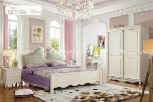 Giường ngủ tân cổ điển với thiết kế trẻ trung, thanh thoát