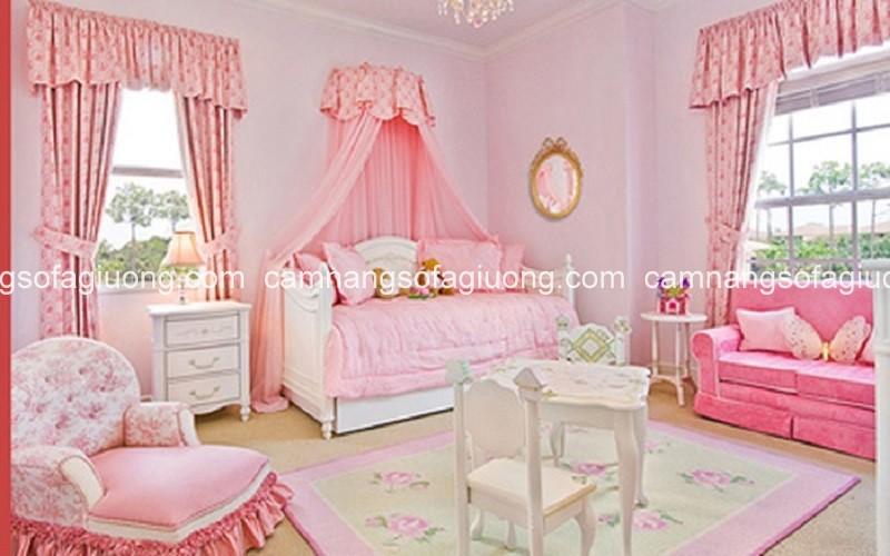 Những mẫu giường ngủ đẹp màu hồng cho cô nàng dễ thương