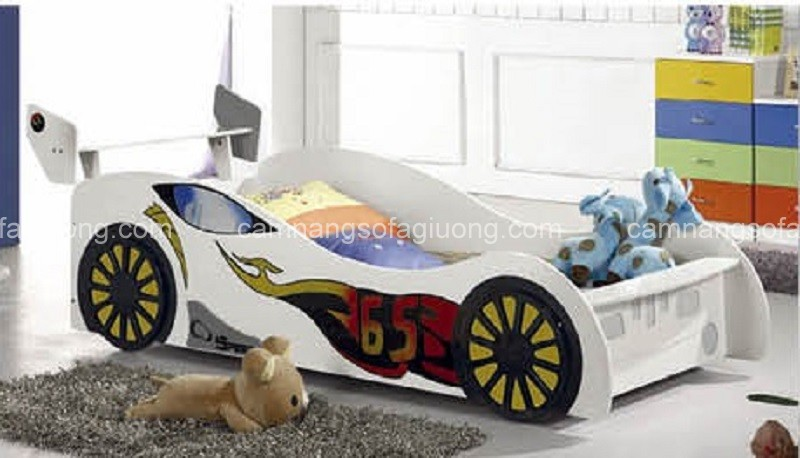 Tổng hợp những mẫu giường ngủ ô tô siêu xinh cho các bé
